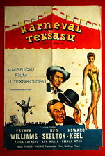 TEXAS CARNIVAL ESTHER WILLIAMS RED SKELTON 1951 UNIQUE RARE EXYU MOVIE POSTER