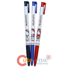Sanrio Hello Kitty Ball Point Pen Set 3pc Pens Set Black Blue Red