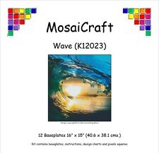 MosaiCraft Pixel Craft Mosaic Art Kit 'Wave' (Incl. Dove Tail Clips)