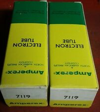 2 Amperex 7119 E182CC Tubes. New Old Stock