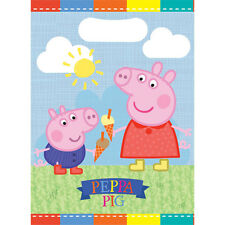 Peppa Pig 8 Loot Bags Birthday Party George Colourful Girls Boys Plastic Sweets
