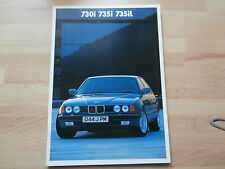 BMW 730i. 735i. 735iL.  Brochure 1987.  44p    .in collectors condition. mint