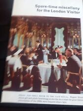 Ephemera 1961 Picture The Grill Room Cafe Royal M486
