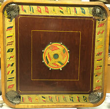 VINTAGE CARROM ARCHARENA BOARD NO. 2 STYLE D INT'L FLAGS KNOCK HOCKEY C. 1913