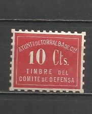1838-TORRALBA DE CALATRAVA CIUDAD REAL SELLO LOCAL COMITE DEFENSA GUERRA CIVIL