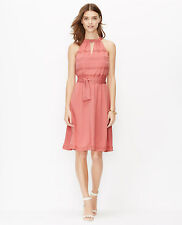 Ann Taylor – MEDIUM (8-10) Sandwash Red Crochet Trim Halter Dress $109.00