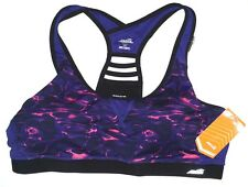 Avia Active Matrix Ladder Design Purple Pink Sports Bra XXL (20) NWT