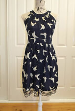 AngelEye London Dress, Bird Print Size L NEW WITH TAGS