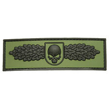 PATCH JTG 3D GOMME SWAT SKULL ANGEL KAKI PAINTBALL AIRSOFT MILITAIRE INSIGNE