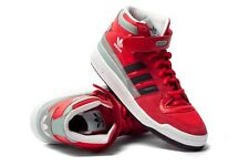 Taille uk 10-ADIDAS ORIGINALS FORUM mid toile baskets-rouge