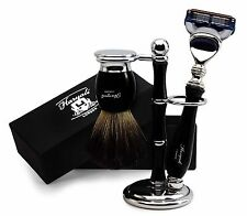 Pure Black Shaving Set of 3 items for Men's.Perfect Gift Set for this Christmas.