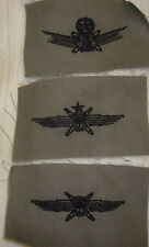 USAF PATCH, USAF CYBER SPACE OPERATIONS BADGE SET OF 3, CLOTH ON ABU MATERIAL