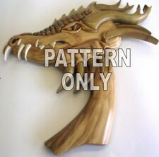 Intarsia wood pattern:HEAD-DRAGON, original