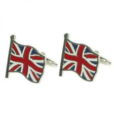 Union Jack Flying Flag Cufflinks British Cruise Party Formal Present Gift Box