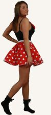 "Polka Dot 15"" Skater Skirt ONLY Full Circle Fancy Dress 60s Rock n Roll 8-14 UK"