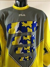 FILA Goalie Shirt  Soccer Brazil Made In Italy No Padding Sz M L/S Jersey VTG