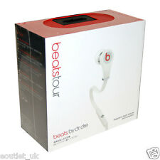 Genuine Beats by Dr. Dre Tour 1 In-Ear Earphones Headphones Mic Remote WHITE NEW