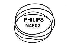 SET CINGHIE PHILIPS N4502 N 4502 REGISTRATORE A BOBINE BOBINA NUOVE FRESCHE!!!