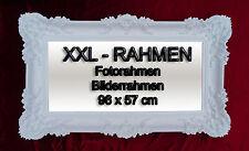 BILDERRAHMEN FOTORAHMEN BAROCKRAHMEN ROKOKO ANTIK 96x57 REPRO IN WEIß RAHMEN 3