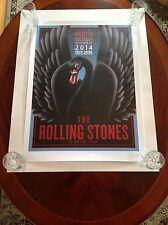 The Rolling Stones 14 on Fire Poster Perth Australia 1st Printing