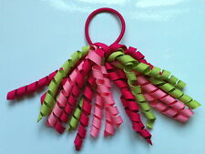 Gymboree Girls Hair Bobble / Hair Tie - Pink and Green, Brand New (G71)