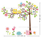 X-Large Owl Tree Art Decal Removable Vinyl Stickers kids bedroom Nursery Decor