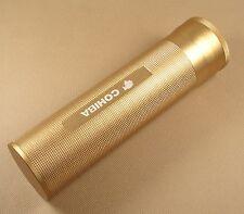 Nuevo Tubo de puros de viaje de color dorado Tarro Humidor Higrómetro Humidificador para Cohiba