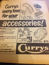 Ephemera 1960 Cycling Advert Currys Accessories Full Page Capes