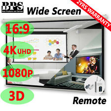 "120"" 16:9 Pure Electric Motorised Projector Screen Home Theatre 3D TV Projection"