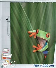 Cute Frog Pattern Bathroom Waterproof Polyester Fabric Shower Curtain 72 inch
