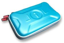 NINTENDO DSi XL or 3DS XL ICE BLUE AIRFORM CARRY CASE & STRAP UK Seller