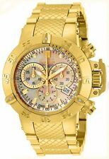 New Ladies Invicta 14597 Jason Taylor 42mm Gold Dial Bracelet Watch