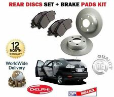 FOR LEXUS RX300 RX400H HYBRID RX350 2003-2009 REAR BRAKE DISCS SET +  PADS KIT
