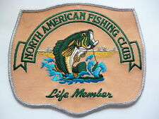 "NORTH AMERICAN FISHING CLUB LIFE MEMBERS PATCH ""HUGE 130MM X 150MM"""