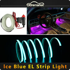 3M Car Ice Blue Flexible Glow Led EL Wires Light Strip Interior Decor Neon Lamp