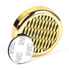 Gold Round Tobacco Cigar Humidifier + Sticker for Travel Case/Small Humidor