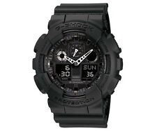 Casio G-Shock Watch GA-100-1A1 Mens Black Case Resin Analog Digital Sports Watch