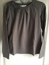 Zara Girls Long Sleeve Top Taupe Age 11/12