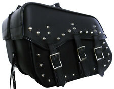 "NEW 16"" W x 12"" H SLANTED SADDLEBAGS w/ ZIP-OFF FOR MOTORCYCLES"