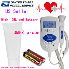 US Seller Sonoline B fetal Doppler, Baby Heart Monitor, 3Mhz probe+ Gel, FDA,HOT