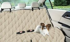 Luxury Dog Cat Pet Car Back Seat Cover Quilted Water Resistant Khaki NEW NO BOX