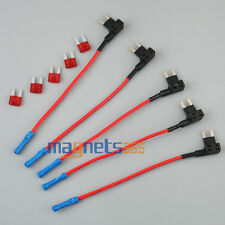 5 x MINI ATM Fuse Adapter tap Dual Circuit Adapter Holder For Car Truck Auto