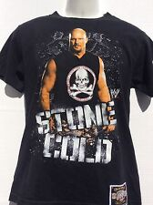 WWE Stone Cold Steve Austin arrive raise hell leave 2 sided t shirt sz S small