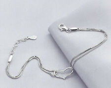 Fashion new 925 Sterling Silver Plated Bracelet Silver Chain Lady Women Jewelry