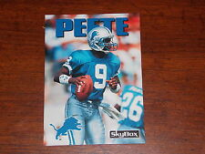 FOOTBALL CARD 1992 SKYBOX INTERNATIONAL #61 RODNEY PEETE LIONS QUATERBACK