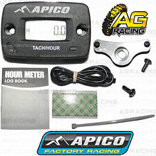 Apico Hour Meter Tachmeter RPM With Bracket Motocross Enduro Motorcycle ATV New