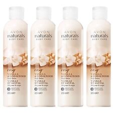 4  X  Avon Naturals Body Care Vanilla and Sandalwood body lotion, 200ml