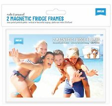 "PACK OF 2 Shot2go magnetic photo fridge frame pockets clear 4x6"" FREE P&P"