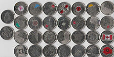 30x Canada Quarter 25 Cent Coin Poppy War Of 1812 Nature Orca  Bison 2015 - 2002
