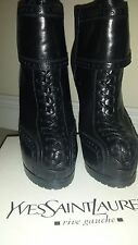 YVES SAINT LAURENT YSL TRIBTOO LACE UP ANKLE BOOTIES BOOTS SHOES size 7 $1395